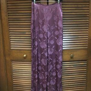 Zara Flowing Wide Leg Pants, Purple, Medium NWOT